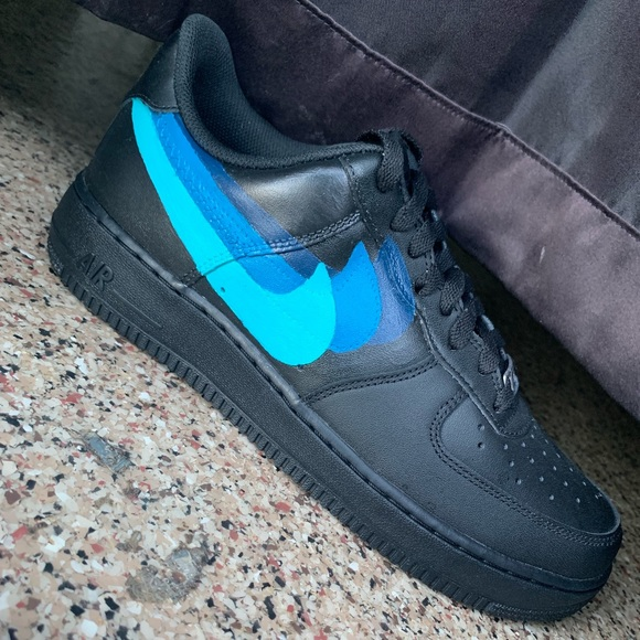 Custom Black Air Forces NWT